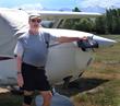 Wayne Pinger, debut novelist, in Alaska