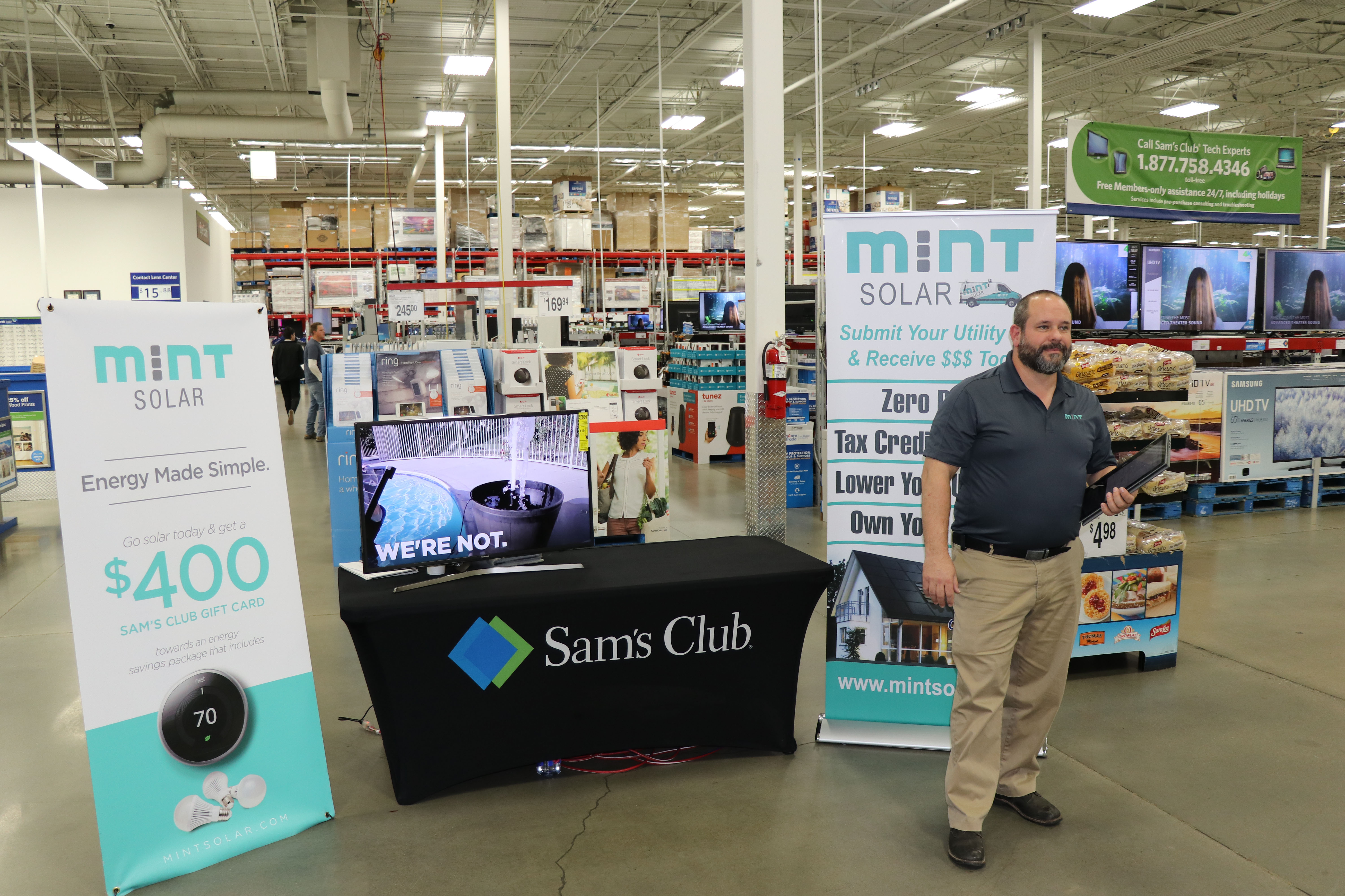 Mint Solar Debuts In Eight Sam S Club Locations In