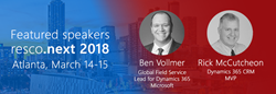 Ben Vollmer, Microsoft's Global Field Service Lead for Dynamics 365; Pierre Hulsebus Field Service Digital Transformation Leader at Microsoft; and Rick McCutcheon, certified Dynamics 365 MVP (Most Valuable Professional).