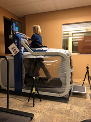 Repsher PT physical therapist tries AlterG