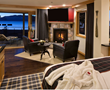 Every room at The Landing boutique hotel in South Lake Tahoe, California, includes a fireplace, private balcony and marble spa-style bath.