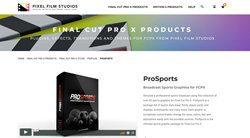 Pixel Film Studios Plugins - FCPX Effects - ProSports
