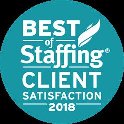 Onyx M.D. Best of Staffing Client Award Winner 2018