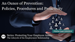 "Financial Poise™ Premieres ""PROTECTING YOUR EMPLOYEE ASSETS - An Ounce of Prevention: Policies, Procedures and Proactivity"" a Webinar, Airing February 20th at 3pm CST"