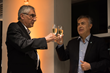 Luis Robbio and Alfredo Cornejo at the opening of Belatrix's Bogota new delivery center