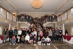 AIEP's international students from China gather for a group photo.