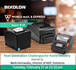 BIXOLON to Showcase Latest Mobile and Label Printer Line-up at WMX 2018