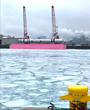 "Pink Barge ""Big Hope 1"" Promotes Cancer Research on First Visit to Port of Indiana-Burns Harbor"