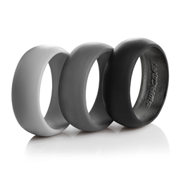 Swagmat Men's Silicone Ring 3-Pack in Black and Grays
