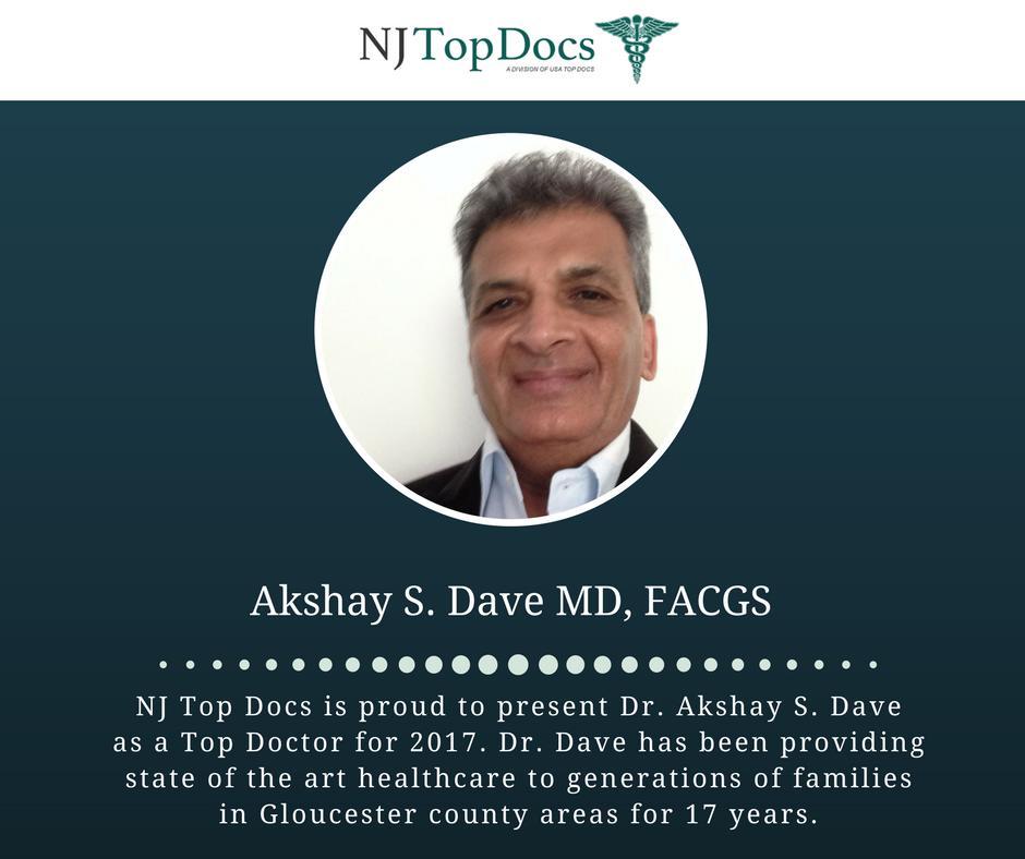 Dr  Akshay S  Dave Named NJ Top Doctor