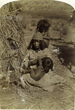 """The Mother"":  Photo taken by John Hillers (ca. 1872-1875), of a ""Pai-ute"" Indian mother and her child living on the Kaibab Plateau near Grand Canyon in Northern Arizona, (as originally described)."