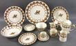 Over 200 partial china sets, dinner services from fine names such as Limoges, Royal Crown Derby etc..