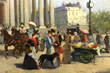 """- Francisco Miralles (Spanish, 1848-1901), """"Before the Church of the Madeleine"""", Paris, oil on canvas"""