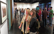 The Palates & Palettes Gallery Walk is another popular event of the Jackson Hole Fall Arts Festival where art enthusiasts browse more than 50 local art galleries after hours while sipping on wine and