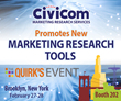 Civicom Promotes New Marketing Research Tools at 2018 Quirk's East