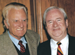 Liberty's founder the Rev. Jerry Falwell Sr. with Rev. Billy Graham.