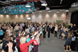 WiOPS members toast five years at their anniversary celebration in January 2018.