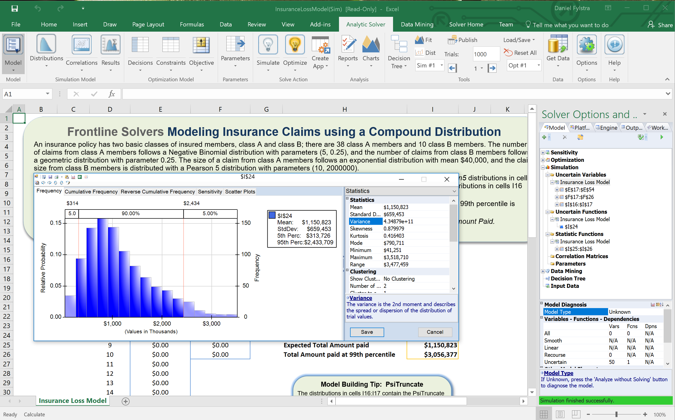 Frontline Systems Releases Analytic Solver V2018 for Excel with
