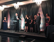 Members of the McCaffrey Homes' team accept CVLUX's Diamond Award.