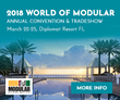 Modular Building Institute Announces Speakers for 35th Annual World of Modular Convention