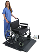 DETECTO's Model BRW1000 Portable Wheelchair Scale for Weighing Bariatric Wheelchair Patients
