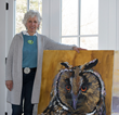 IntoBirds Highlights Connecticut Artist  Soaring to New Heights Painting Majestic Owl Series