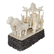 Homage To The Emperor's Chariot Carved in White Jade. Lot 133. Gianguan Auctions March 10 sale.
