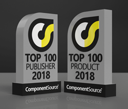 ComponentSource Top 100 Publisher and Product Awards for 2018