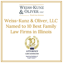 Weiss-Kunz & Oliver, LLC Named to 10 Best Family Law Firms in Illinois