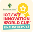 ComplianceMate Selected as Finalist in the IOT/WT Innovation World Cup® 2017/18 for Its Landmark Sensor Smart Kitchens Temperature Monitoring System
