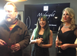 Actor/Artist/Comedian Jim Moir(Vic Reeves) with Model Nancy Sorrell and Justine Cullen