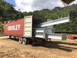 Crowley Logistics provides bridge material transport to aid Puerto Rico.