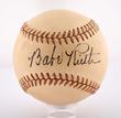 Spectacular Babe Ruth Single Signed Baseball, estimated at $20,000-40,000.