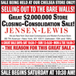 Jensen-Lewis Store Closing-Consolidation Sale