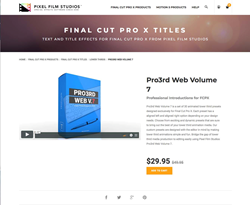 Pro3rd Web Volume 7 - Pixel Film Studios Effects - FCPX Plugins