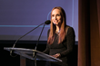 Emmy Award-winning Faith Salie hosting House of SpeakEasy's 5th annual gala.  Photo credit: Beowulf Sheehan