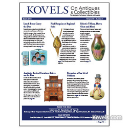 kovels, prices, antiques, brownies, lunch boxes, aesthetic furniture, tiffany