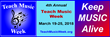 "4th Annual ""Int'l Teach Music Week"" to Offer Free Lessons to New Students – March 19-25"