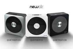 NewAir QuietHeat15 in White, Black & Silver
