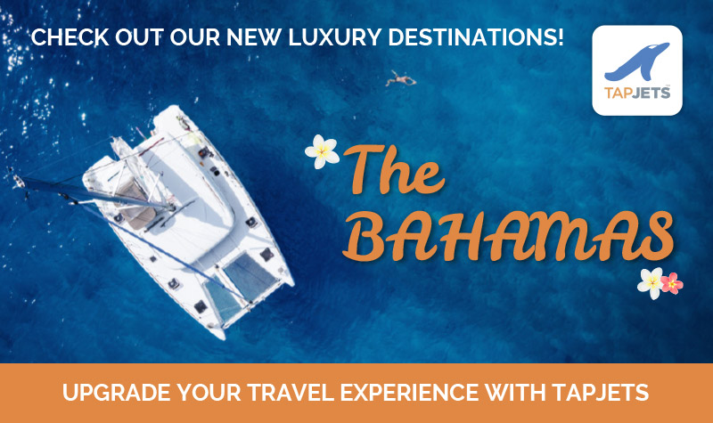 TapJets Inc  Adds 22 Destinations in the Bahamas to its