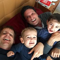 Gay surrogacy family.