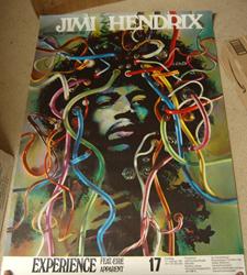 "Original Jimi Hendrix 1969 Gunther Kieser ""Medusa Head"" Concert Poster"