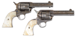 Pair of Engraved & Inscribed Silver Plated Colt Single Action Arm Revolvers, estimated at $150,000-225,000.