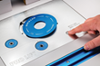 The exclusive Snap-Lock mechanism pops out the anodized aluminum insert ring with a push of a plate-mounted button.