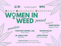 The Daily Marijuana Observer's Women in Weed Panel Event