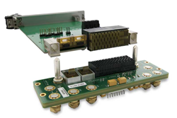 This new module features 12 full-duplex lines offering an aggregated bandwidth of up to 300G in a unique, rugged, small-SWaP, low-cost module, as specified in current and upcoming VITA 66 standards.