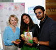 "Chef Alina Z with actor Ali Fazal, who co-starred as ""Abdul"" with Judi Dench in the Oscar-nominated ""Victoria & Abdul."" Also pictured is Bollywood star Richa Chadha. Photo by Arnold Turner/Invision fo"