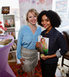 "Chef Alina Z with ""Blackish"" and ""Grownish"" star Yara Shahidi. Photo by Arnold Turner/Invision for KFPR"