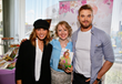 "Chef Alina Z with ""Twilight"" star Kellan Lutz (""Emmett Cullen"") and wife TV host Brittany Gonzalez. Photo by Arnold Turner/Invision for KFPR"