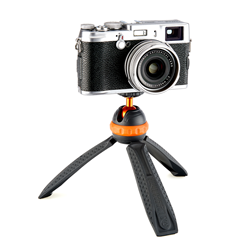 Iggy mini tripod used with compact camera